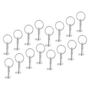 16 Pieces Boat Bimini Top Frame Quick Release Spring Pins 1/4 W/pull Ring