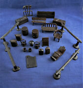 Marx Western Town, Roy Rogers Mineral City Furniture – 25 Pc L5