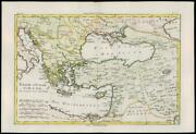 1780 Antique Map Turquie Dand039europe Dand039asie Turkey In Asia By Bonne Bn45