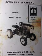 Sears Db David Bradley Riding Garden Tractor And Engine Owner And Parts 2 Manuals