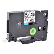 100pk Black On Clear Label Tape Tz-131 Tze-131 For Brother P-touch Pt-128af 1/2
