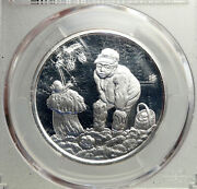 2019 Latvia Gifts Of Forest Mushroom Farmer Proof Silver 5 Euro Coin Pcgs I93506