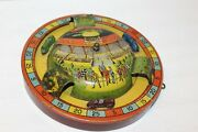 Very Nice Vintage 1920's Tin Litho Jeannette Lever Wind Car Racing Toy