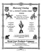 Lead Tin Toy Soldier Mold Metal Cast Products 1930s Catalog Pdf File