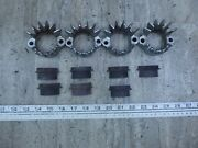 1981 Honda Cb900 Custom H439-2 Exhaust Clamps Flanges With Shims Set