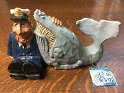 1998 David Frykman Portfolio The Mariner Collectible Capand039n Billy Whale Figurine