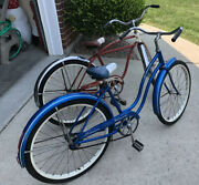 Pair Of 1960s Schwinn Hollywood And Skipper Bicycles,local Pick-up Only