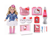 18 Blonde Cowgirl And Hello Kitty Pajama Party Bundle Set Gift Play See Photo