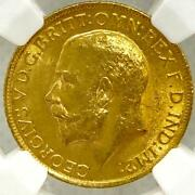 Rare George V 1915 British Sovereign Gold Coin Ms63