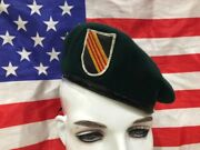 Vietnam War U.s. Army Special Forces Green Beret With Woven 5th Sfg Insignia