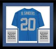 Frmd Barry Sanders Lions Signed Blue Throwback 1994 Mandn Replica Jersey And Insc