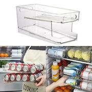 Beer Soda Can Double-layer Kitchen Fridge Storage Rack A1b3