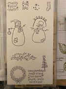 2000 Stampin Up Thanks Snow Much Snowmen Tree Set Of 12andnbsp Exc Condition