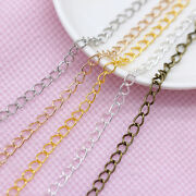 1m Gold/silver/bronze Cable Iron Metal Open Link Tail Extend Chain Findings Diy