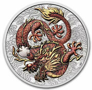 2021 Australia Chinese Myths And Legends Dragon Bu Silver Colorized Coin Free Ship