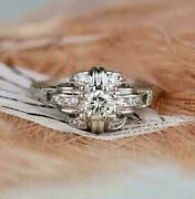 Vintage And Antique Art Deco Incredible Ring 1 Ct Vvs1 Diamond 14k White Gold Over