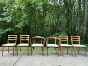 Lawrence Peabody Mid-century Modern Dining Chairs For Restoration Pu Michigan