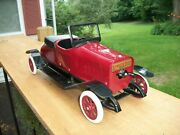 Vintage Structo No. 12 Early Deluxe Mechanical Roadster Restored