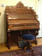 Antique Parlor Organ And Stool--1876 Clough And Warren--ex. Condition And Rich Sound