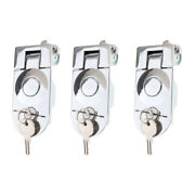 3 Pack Flush Lever Compression Latch Key Lock For Rv Trailer Motorhome New