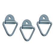 3pc Tie Down Lashing Ring And Cheat Anchor Zinc For Truck Trailers Van Boat