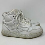 Reebok Mens Ultra Hi Athletic Shoes White 4-10505 Lace Up Vintage Sneakers 8 M