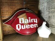 Dairy Queen Dq Restaurant Lighted Sign W/ 3d Cone 2-sided 10and039 X 6and039 Outdoor 1996