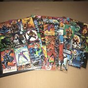 1992 Mint Marvel Masterpieces Complete Trading Card Set 1-100 W/ Checklist