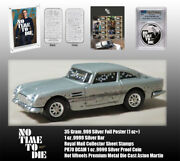 No Time To Die James Bond 007 Silver Bar, Silver Coin, Silver Poster, Stamps..