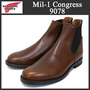 Red Wing Regular 2016 Red 9078 Mil1 Congress Boots Teak Us9dabout No.8070