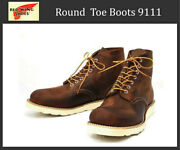Red Wing Regular Worn In Movies 9111 6inch Plain Toe Boots Rough Tough No.8114