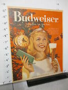 Newspaper Ad 1958 Budweiser Beer Glass Bottle Christmas Tree Ornaments Aw