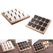 24pcs Diy Handmade Paper Earring Holder Cards And Bamboo Tray Display Showcase