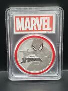 2017 Tuvalu Spider-man 1 Oz Silver Marvel Series 1 Coin Pcgs Ms70 Red Gasket