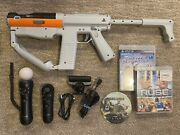 Sony Ps3 Move Bundle W/ Controller Navigation Charger Cord Camera Rifle Socom 4