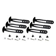 6 Pieces Boarding Latch Bungee Cord Holder For Ladder Yacht Part Accessory