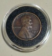 1917 Lincoln Cent Nice In Acrylic Capsule Wheatie With Beautiful Mahogany Toning