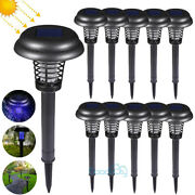 Outdoor Waterproof Solar Mosquito Insect Killer Zapper Led Light Fly Bug Trap