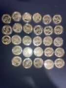 Lot Of 28 The Beatles Gold Plated Coins 24k