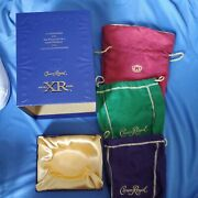 Crown Royal Red Xr Red Bag Xr Blue Box , Green And Purple Bags Lot