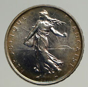 1964 France La Semeuse French Sower Woman Old Large Silver 5 Francs Coin I93531