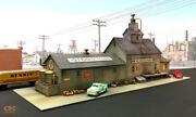 N Scale Whiskey Distillery Custom Diorama Built Weathered Structure Building