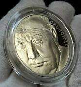 2015 Death Of Winston Churchill Andpound5 Five Pound Silver Proof Coin With Box And Coa