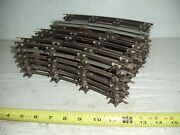 Old Vintage S Gauge Train Track Lot Of 24 Curve And Pins 2 Rail