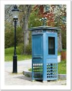 Phone Booth And Old Art Print / Canvas Print. Poster, Wall Art, Home Decor