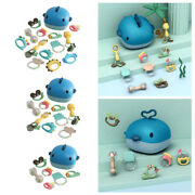 Infant Teether Rattle Shaking Bell Grab Teething Baby Shower Bath Toys New