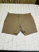 """Duluth Mens Flex Dry On The Fly Cargo Shorts Size 42 Brown Wicking Comfort 7"""""""