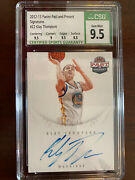 Klay Thompson Rookie Card Auto Past And Present Csg 9.5 Subs 9.5/9.5/9.5/9 Gem 💎
