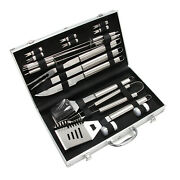 18x Outdoor Cooking Bbq Grill Tool Set Grilling Accessories Utensils Case