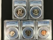 Pr66 1956 Pcgs Graded Proof Set Coins Uncirculated Us P-mint Collectible Lot